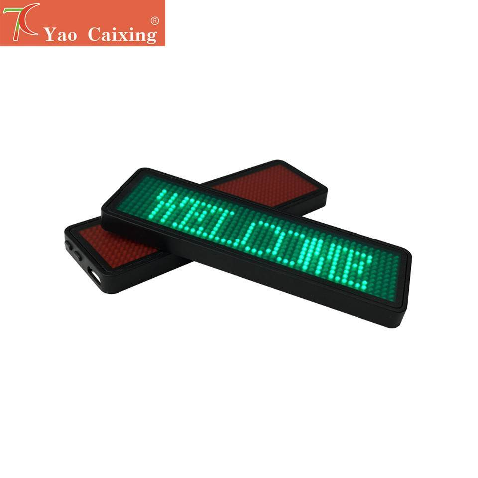 3 Color Chooseable LED Scrolling Word Card Screen KTV Bar Club Electronic Badge Display