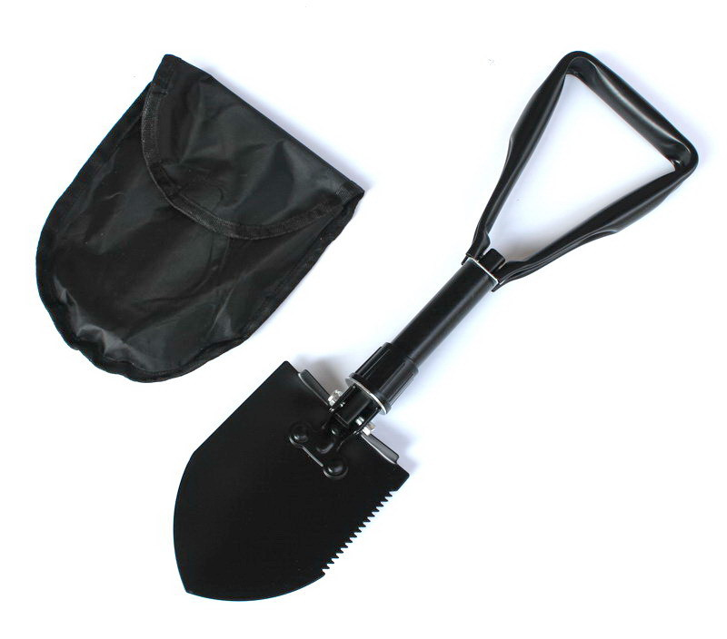 Outdoor Supplies Equipment Shovel Car Mounted Folding Spade Yeying Chan Medium Black And White With Pattern Multi-functional Thr