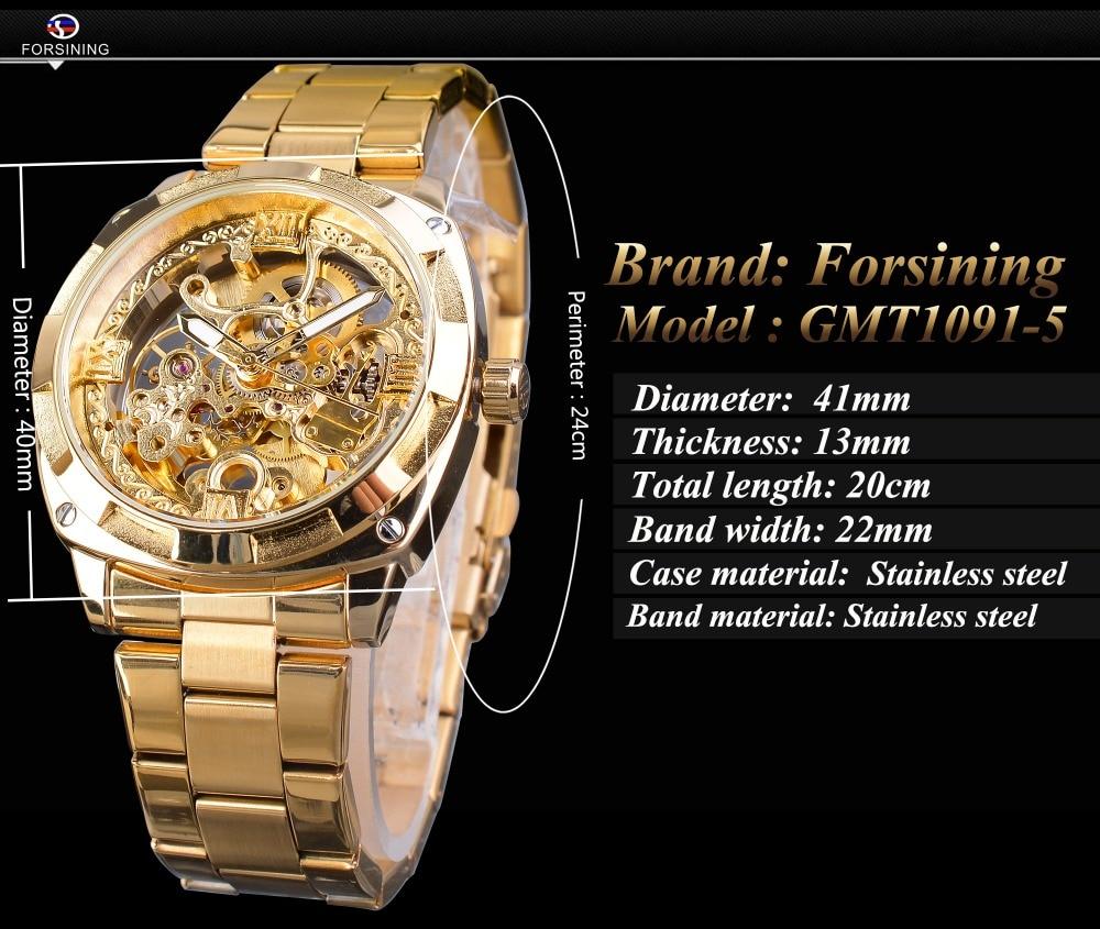 Hbafc0ad44030405485dda443e4e1d24fn Forsining 2018 Fashion Retro Men's Automatic Mechanical Watch Top Brand Luxury Full Golden Design Luminous Hands Skeleton Clock