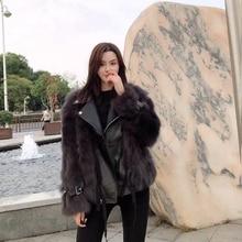 Off season special fur coat female Winter Youth locomotive fox fur