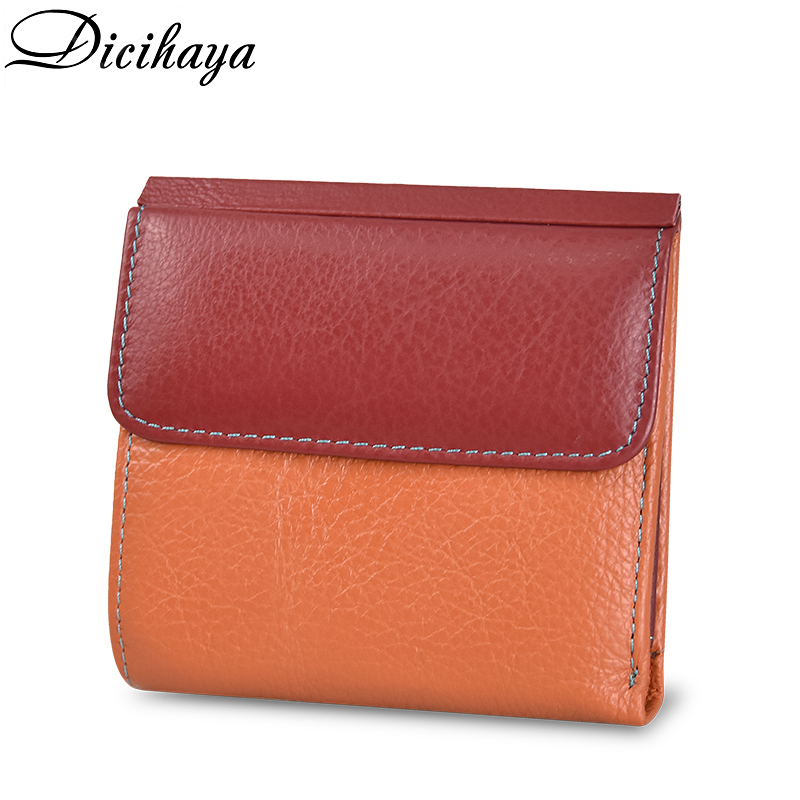 DICIHAYA Genuine Leather Women Wallet And Purses Coin Purse Female Small Portomonee Rfid Walet Lady Perse For Girls Money Bag