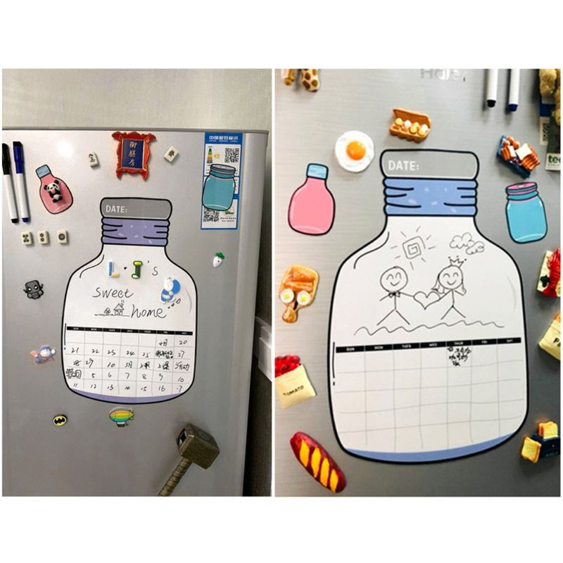 Soft Magnetic Whiteboard Magnet Erase Board Drawing Refrigerator Menu With Pens D08B