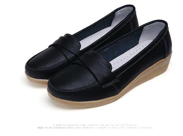 Новинка; Женская обувь на плоской подошве; Модные женские туфли-оксфорды; Кожаная мягкая прогулочная женская обувь; Лоферы; Домашняя обувь; ...