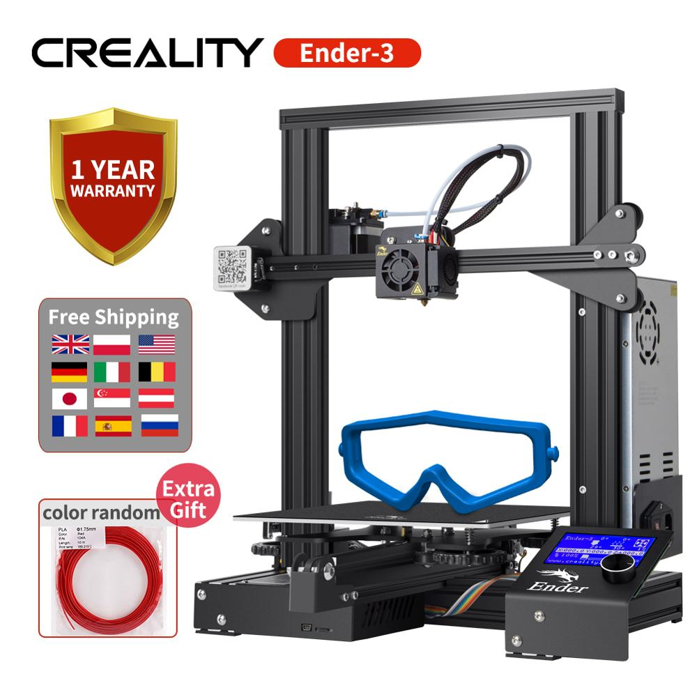 CREALITY 3D Ender-3/Ender-3X 3d Printer Kit Printing Mask With 220*220*250MM Ship From US/Russia/Spain/UK/DE/CZ warehouse(China)