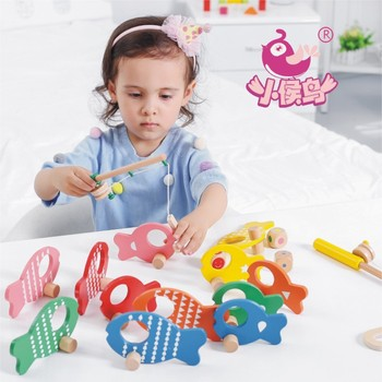 Children's wooden fishing game baby children's play house early education puzzle wooden fishing enlightenment 3-6 years old toy