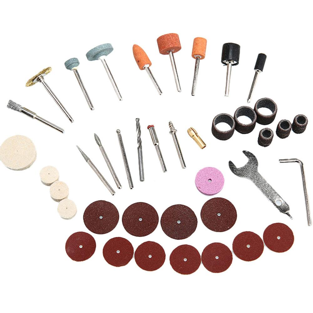 Practical Plastic 40pcs Electric Suit Tool Kits Renovation Steel Brush Abrasive Paste Sandpaper Bar Circle Sturdy Colour