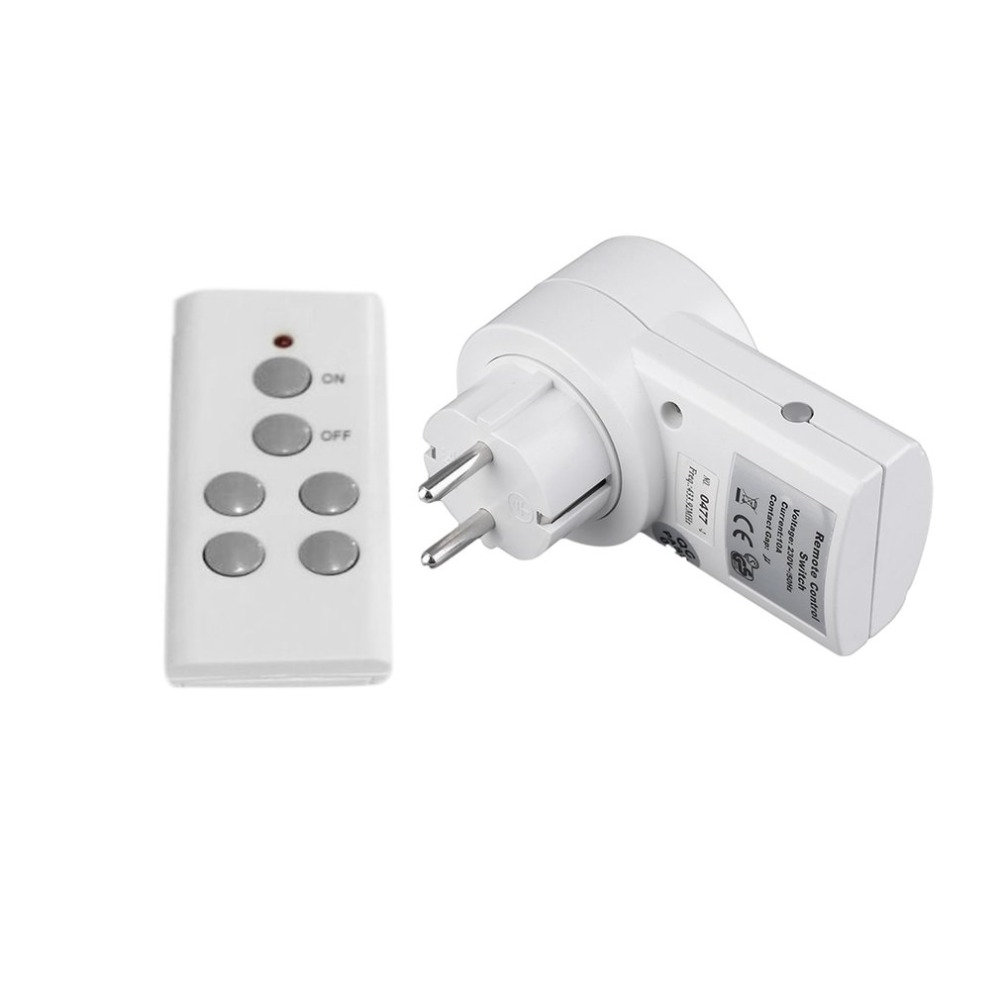 230V 10A <font><b>Wireless</b></font> <font><b>Remote</b></font> Control Switch <font><b>Socket</b></font> Power Meter Home House Power Outlet Light Wattmeter Energy Meter EU Plug image