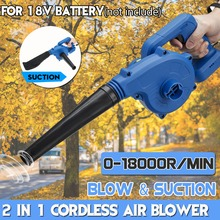 Electric Air Blower Cordless Handheld Leaf Computer Dust Collector Rechargeable Power