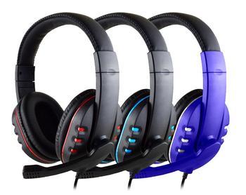 Tanie przewodowe słuchawki do gier słuchawki z mikrofonem 3 5mm wtyk MIC zestaw słuchawkowy VOIP Skype dla komputer stancjonarny Laptop PS4 słuchawki prezent tanie i dobre opinie huhd Wyważone Armatura CN (pochodzenie) Przewodowy 110dB Brak 1 2m Do Internetu Bar Monitor Słuchawkowe Do Gier Wideo