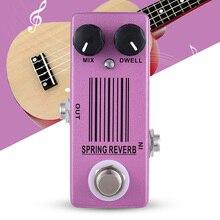 Mosky MP 51 primavera reverb mini único pedal efeito guitarra true bypass peças da guitarra & acessórios roxo liga de alumínio dc 9v