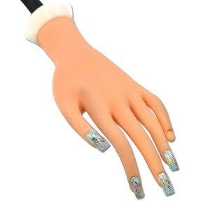 Image 5 - Faux main Flexible Nail Art formation professionnelle pour laffichage outil répété plastique souple dans la pratique prothétique manucure CHND275