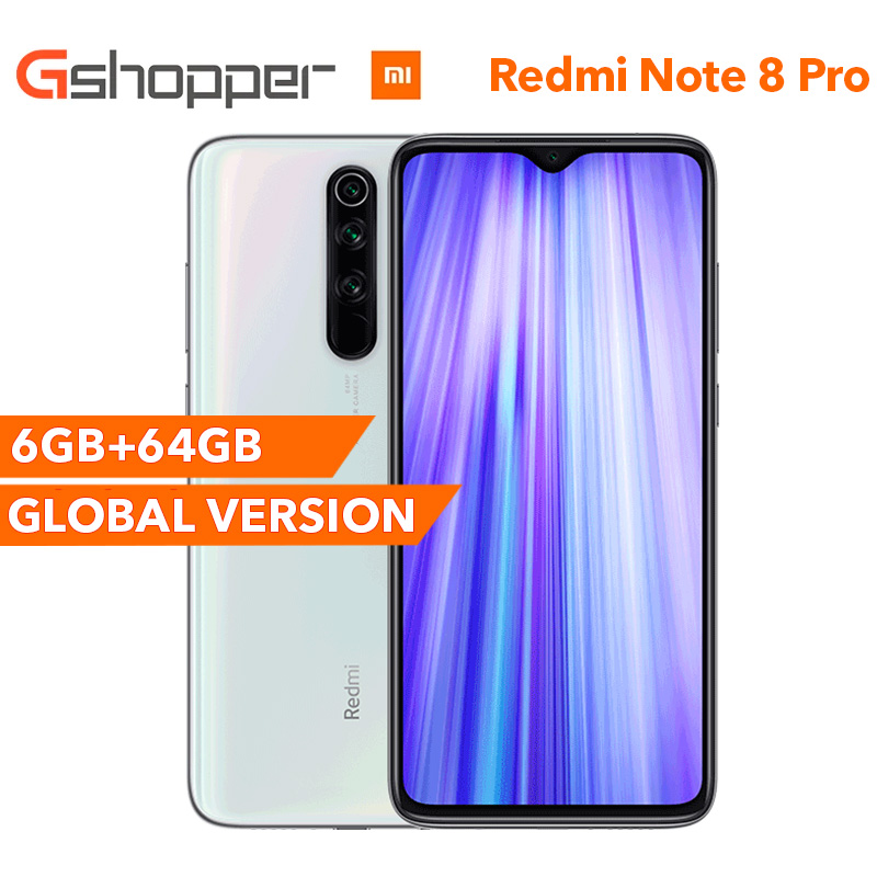 Global Version Xiaomi Redmi Note 8 Pro 6GB RAM 64GB ROM Smartphone 64MP Four Rear Camera MTK Helio G90T Octa Core 6.53