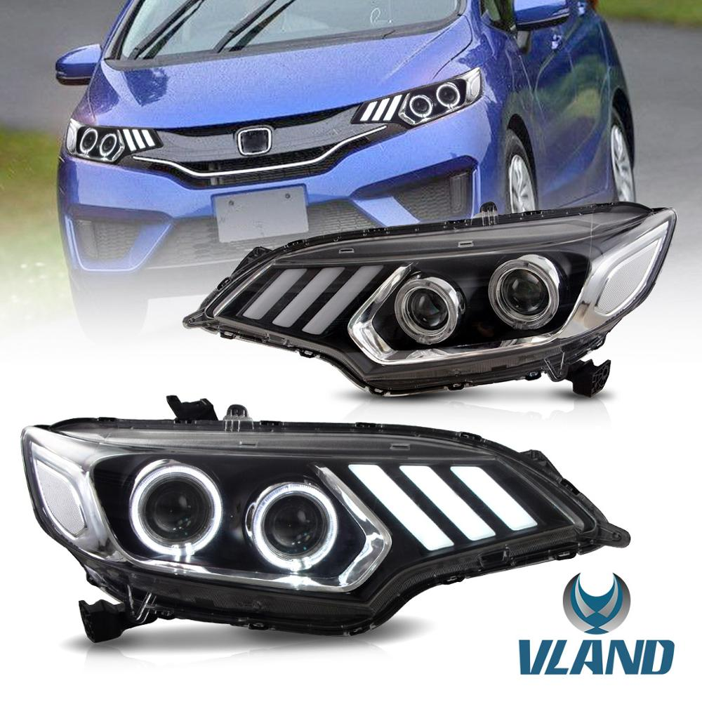 Vland Factory For Car Light For FIT LED Headlight 2014 2016 2017 For JAZZ Head Lamp GK5 With DRL And Xenon Beam Light
