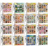 Cartucho de vídeo game ds 3ds 2ds, compilação de cartucho para nintendo ds