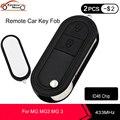 KEYECU Ersatz Flip Klapp Fernbedienung Auto Schlüssel Fob 2 Tasten 433MHz ID46 Chip für MG 3 MG3