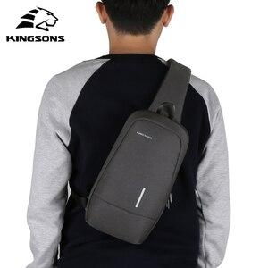 Image 2 - Kingsons homme sacs à bandoulière sacs à bandoulière hommes Anti vol coffre sac école été court voyage messagers sac 2019 nouveauté