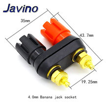 Banana plugs Couple Terminals Red Black Connector Amplifier Terminal Binding Post Speaker Plug Jack
