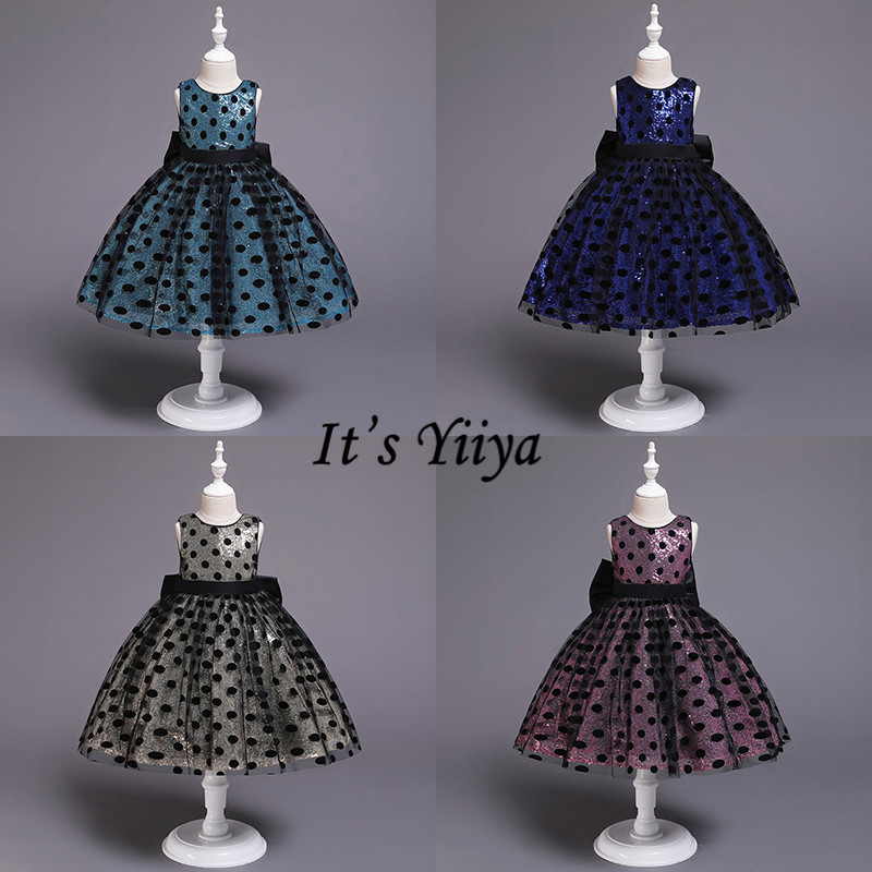 It's YiiYa   Flower     Girl     Dresses   For Wedding 5 Colors Sleeveless O-Neck Communion Pageant   Dresses   Kids Evening Party   Dresses   750