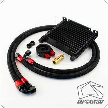 Универсальный 15 РЯД AN10 Масляный радиатор 260x175x32 мм комплект для трека/проекта/Гонки Черный