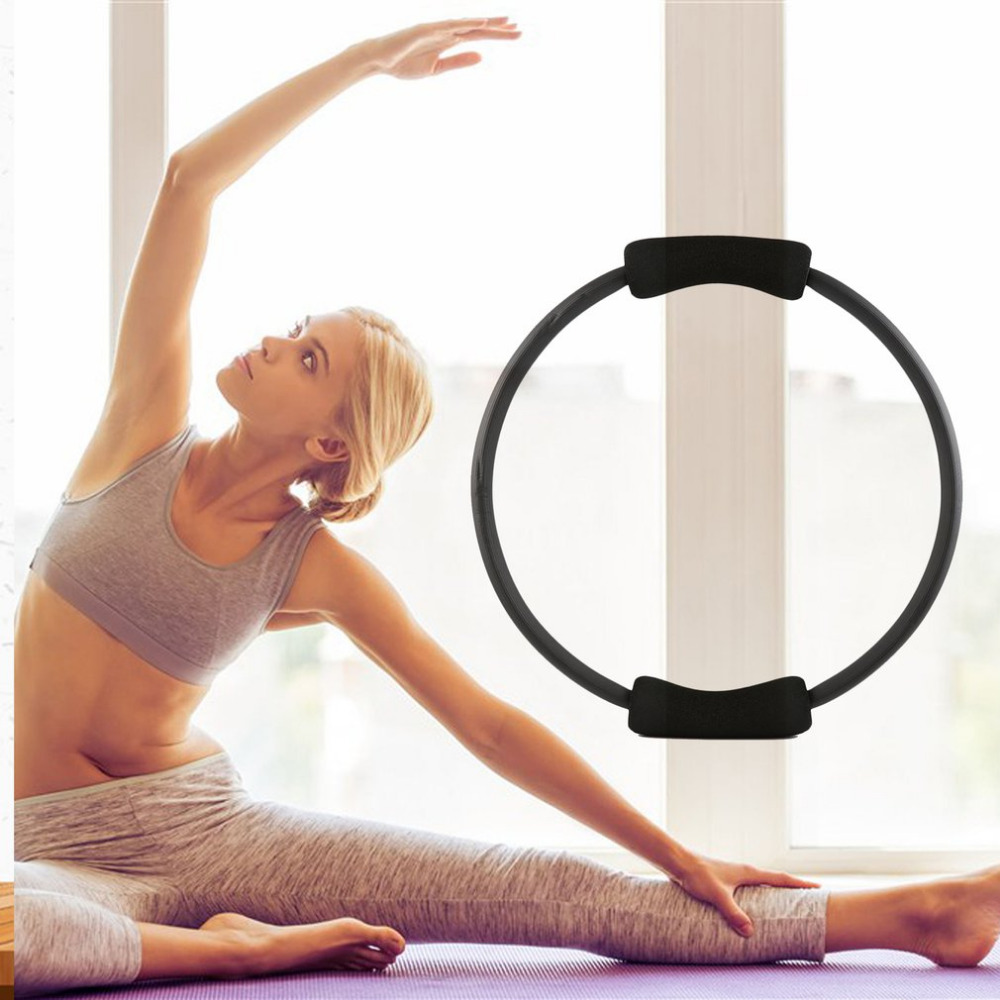 Dual Grip Yoga Pilates Ring For Muscle Exercise Kit Magic Circle Muscles Body Exercise Yoga Fitness Tool Dropship 4 Colors New