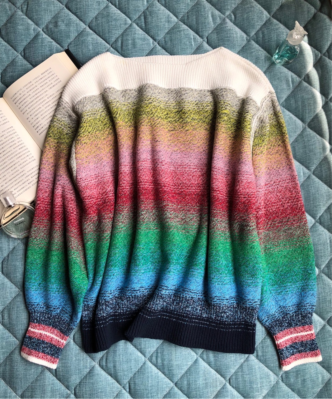 女性の勾配のセーター初秋コレクションの花のランタンスリーブルーズセーター  グループ上の レディース衣服 からの プルオーバー の中 2