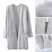 Europe and America AliExpress Explosions 2019ebay New Fashion Loose Cardigan Long Knitted Sweater Foreign Trade