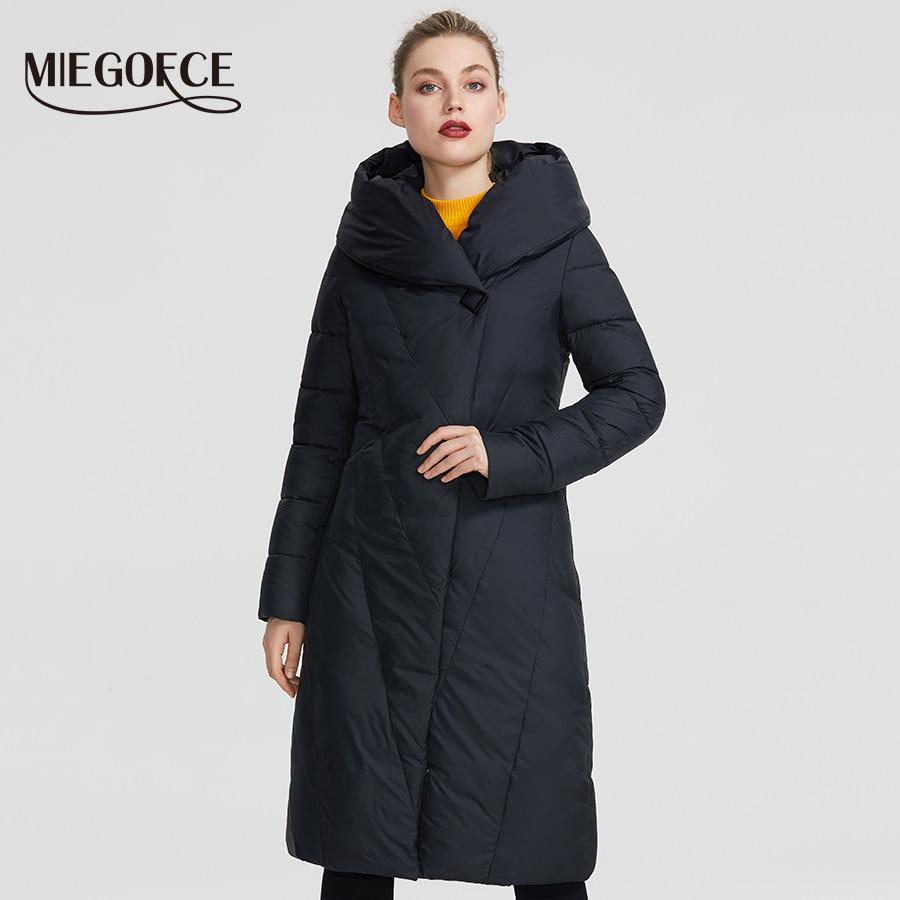 MIEGOFCE 2020 Winter Long Model Women's Jacket Coat Warm Fashion Women Parkas High Quality Bio Down Women Coat Brand New Design Parkas  - AliExpress