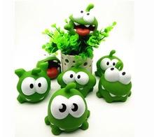 1 kikker vinyl rubber android spel pop snijkraad om nom candy verslindende monster speelgoed figuur baby bb geluid speelgoed поло print bar om nom