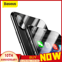 Baseus Front Glass + Back Tempered Glass For iPhone Xs Xs Max XR 2018 Protective Glass Screen Protector For iPhone Xs Xs Max|Phone Screen Protectors| |  -