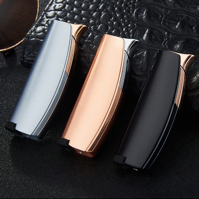 2019 New Creative Turbo Torch Electronic Lighters Smoking Accessories Metal Gas Lighter Cigar Cigarettes Lighter Gadgets For Men