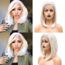 Charism Side Part Synthetic Lace Front Wig Straight Hair Lace Wig For Black Women Blonde Wig Lace Front Short Bob Wigs
