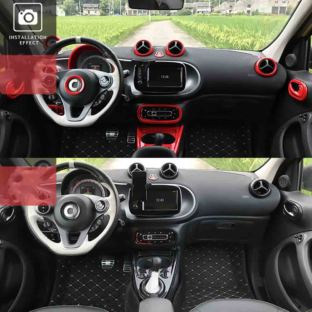 lowest price carbon fiber color car Interior Decoration Moulding High quality The whole body Vehicle sticker for smart 453 fortwo forfour