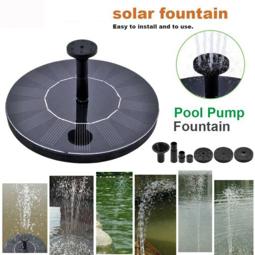 1.0W 160L/H Solar Water Panel Power Pump Fountain Set Pond Garden Power Panel Kit Pool Watering Submersible DC 7V