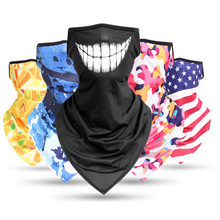 3D Headband Lightning Paisley Neck Gaiter Tube Scarves Hanging Ear Cover Scarf Breathable Windproof Face Guard Bandana Men Women