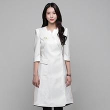 Korean Version Of Sap Beauty Salon Skin Manager Work Clothes Beautician Dress Short Sleeve Tattoo Manicurist