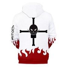 Winter Jacket Hoodies Sweatshirt Portgas Anime Whitebeard Streetwear-Printed Pirates