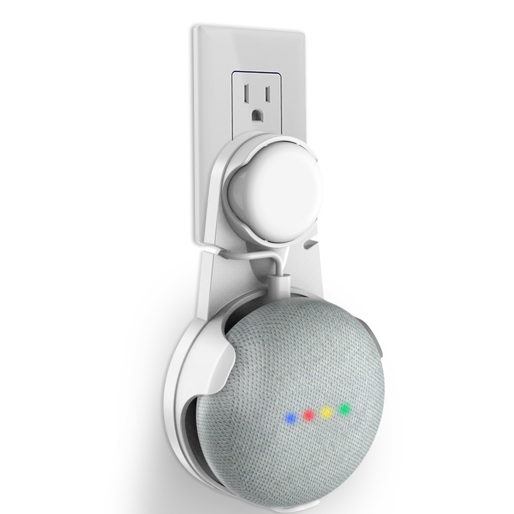 Outlet Wall Mount Holder Stand For Google Home Mini, A Space-Saving Accessories For Google Home Mini Voice Assistant