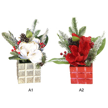 artificial flowers autumn decoration fall decor Christmas Decorations Snow Flocking Trees Twigs Mulberry Window
