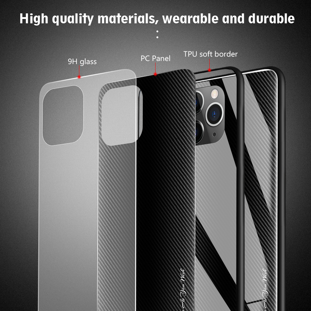 LECAYEE Super Tempered Glass Case for iPhone 11 Pro Max 7 6s 8 Plus XR Xs Max Coque Color Cover for iPhone XR X Xs MAX Cases (9)