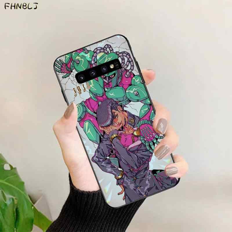 FHNBLJ jojo'nun tuhaf macera JoJo Anime baskı telefon kılıfı kapak kabuk için Samsung S10 5G S7 kenar S8 s9 S10 S20 artı S10Lite