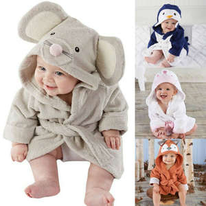 Bathrobe Clothing Toddler Baby Hooded Winter Child Cute Cartoon Sleepwear Lovely