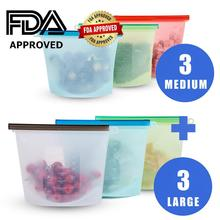 RASABOX - Reusable Silicone Food Storage Bags, Snack Bags for Preservation & Cooking, Sous Vide, Sandwich, Meat, Vegetables