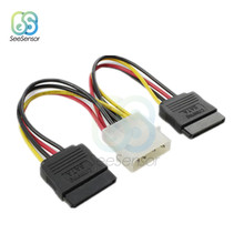 4Pin IDE Power Splitter Ide Male To 2 Perempuan ATA/Kabel Power SATA Hard Drive Kabel Power Supply 15 CM(China)