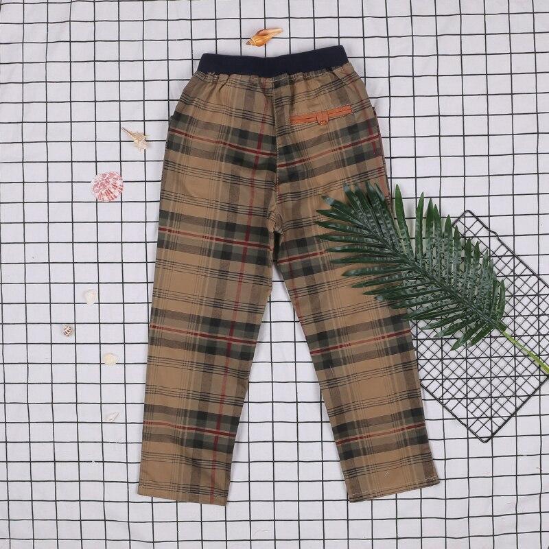 Alta qualidade crianças primavera e outono inglaterra calças xadrez. Meninos moda calças ao ar livre. Roupa dos miúdos