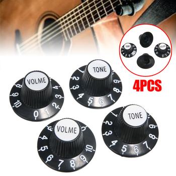 4pcs/set Black Guitar Control Tone & Volume Knobs Silver Top Hat Bell For Gibson Les Paul For SG Guitar Accessories gibson sg special 2018 natural satin