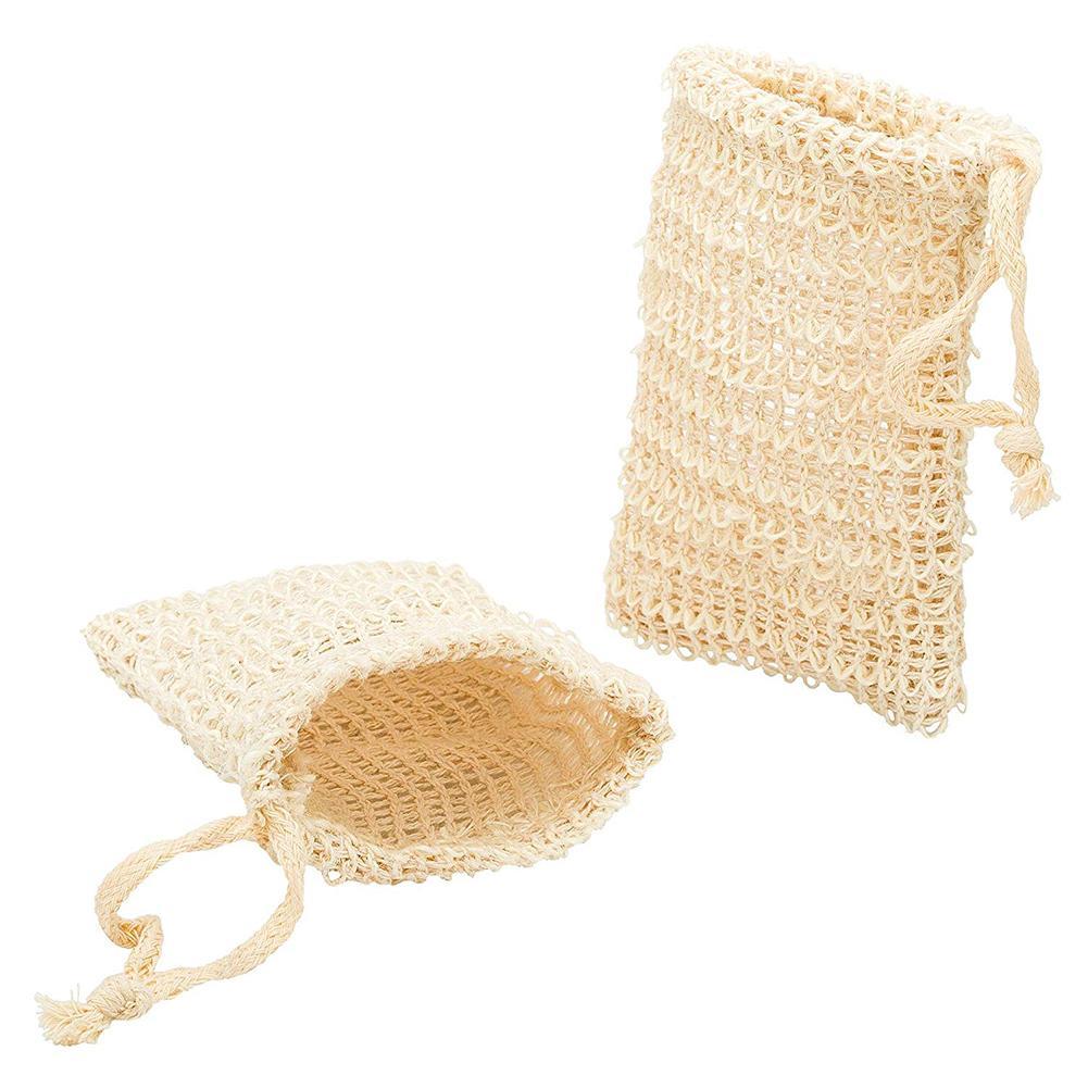 Shower Exfoliator Soap Saver Foaming Bag Cotton And Linen Sponge Pouch Net Bubble Blister Mesh Cleaning Tools