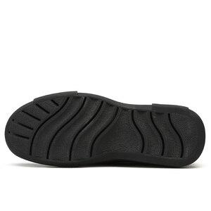 Image 5 - Nuevos zapatos informales de negocios, zapatos ligeros para hombre, mocasines de cuero cómodos antideslizantes con absorción de impacto para hombre