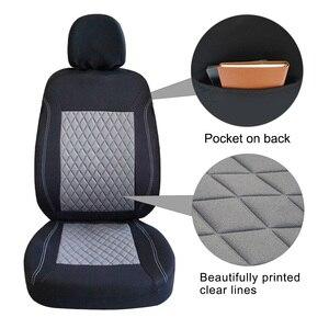 Image 2 - ROWNFUR ポリエステル車のシートカバーユニバーサルフィットほとんどの車の座席プロテクター四季車カバーのカバーインテリアスタイリング 1 セット