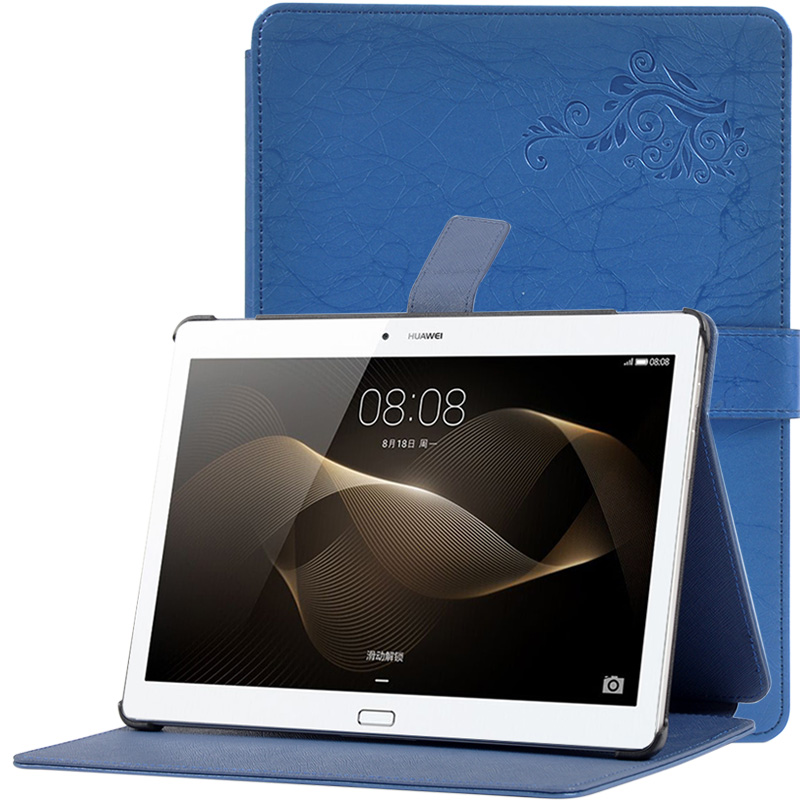 Fashion Print PU Leather Folding Folio Case for Huawei MediaPad M2 10.0 - A01L for 10.1'' Tablet PC Cover Case image