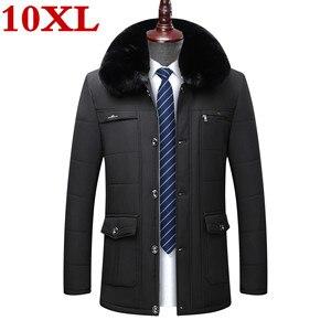 Новинка большого размера плюс 10XL 9XL 8XL зимние куртки для мужчин повседневная куртка с толстым теплым пальто для мужчин повседневное Паркер п...
